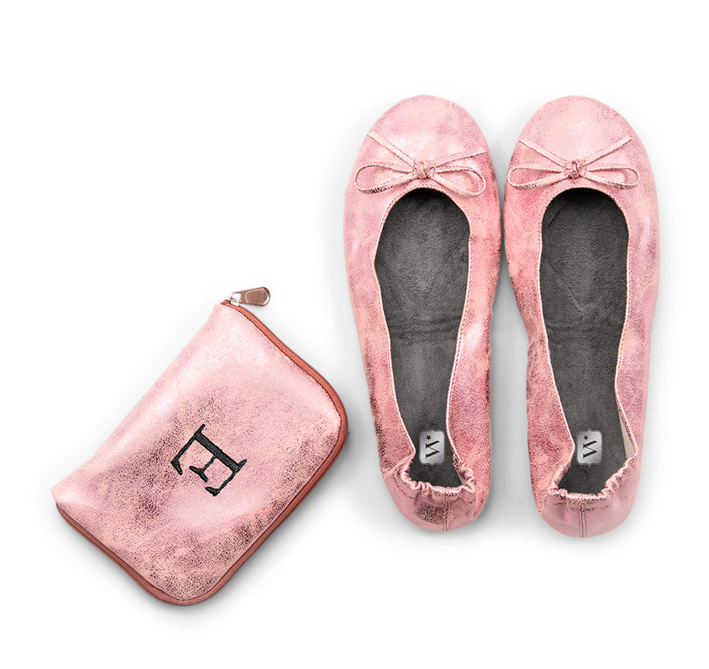 bf6c51794 Wedding Ballet Flats   Custom Carrying Case - Pink