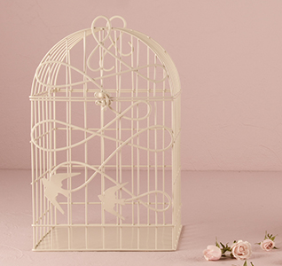 Modern Decorative Birdcage with Birds in Flight