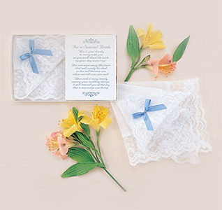 Bride White Wedding Handkerchief