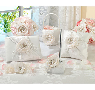 Wedding reception sets wedding accessory sets chic shabby wedding collection set junglespirit Choice Image