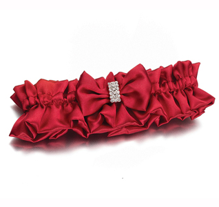Diamond Red Wedding Garter