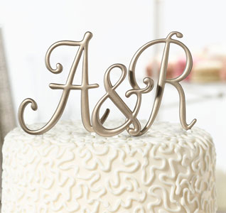 Gold Cake Top Letters