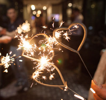 Heart Shaped Wedding Sparklers New Zoom More Images