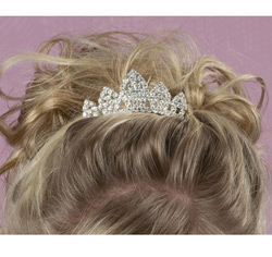Clear Crystal/Rhinestones Mini Tiara Hairclip (with hair combs) for Formal Updo