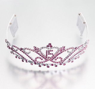 Mis Quince Anos, 15 Years Birthday Tiara in Pink