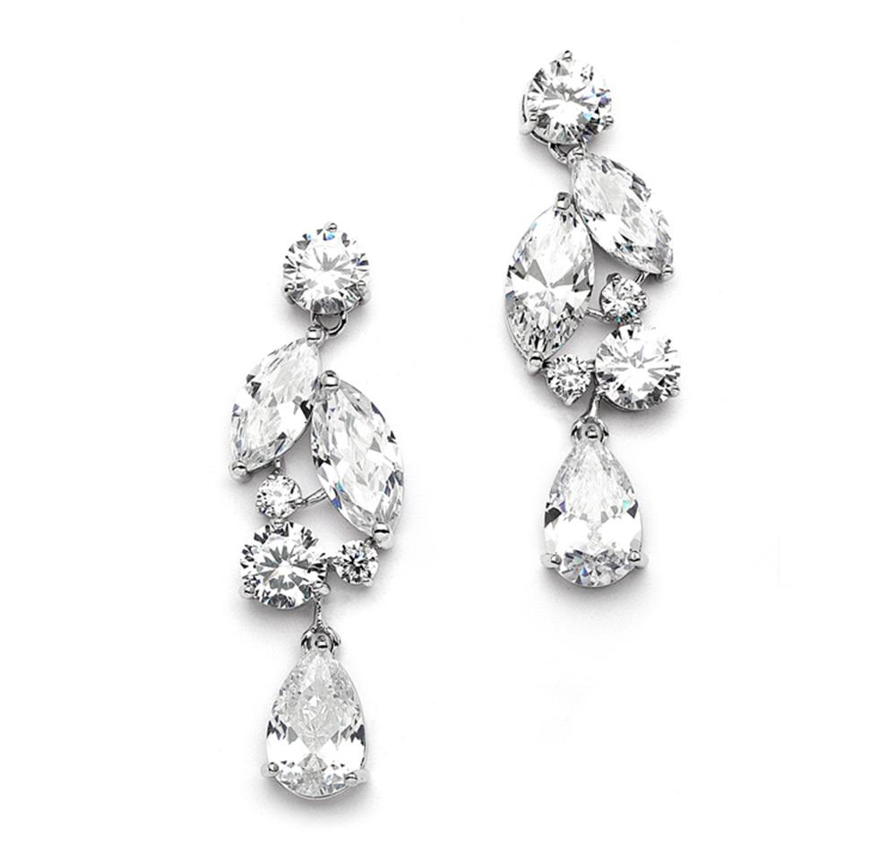 Mosaic Teardrop Bridal Earrings Wedding Earrings Bridal Earrings