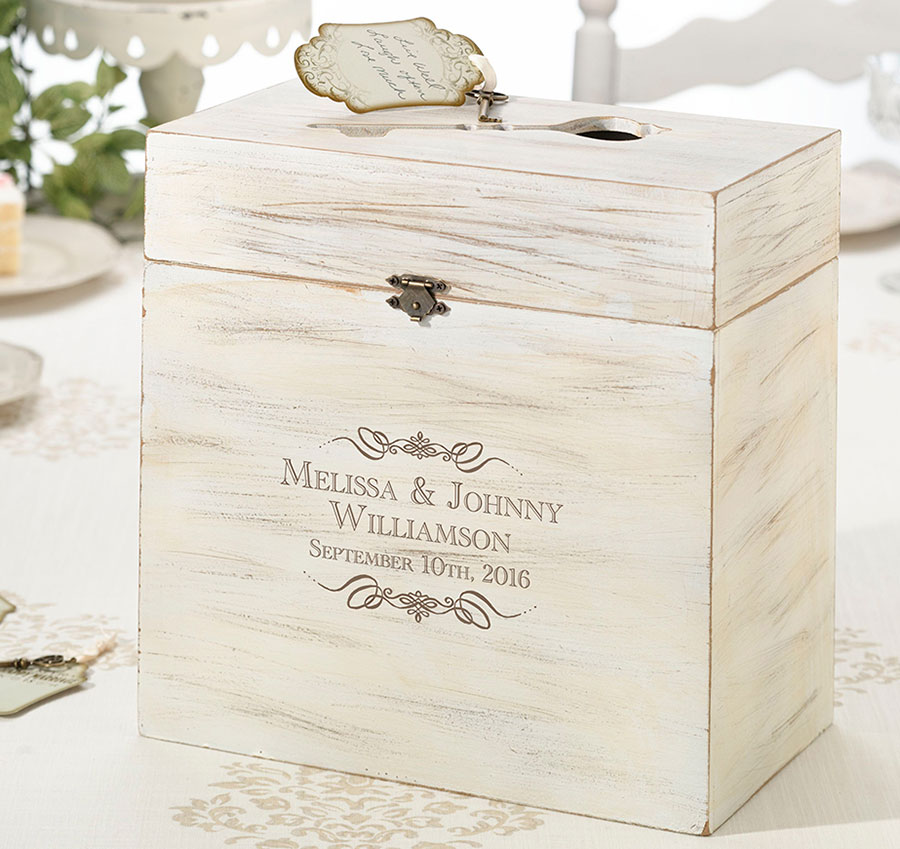 Personalized Wooden Rustic Wedding Key Card Box | Personalized ...