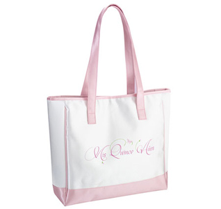 Quinceanera Pink and Wite Tote Bag