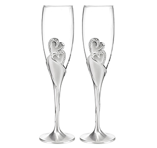 Sparkling Love Toasting Flutes