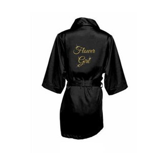 a8c12a6715f Glitter Flower Girl Satin Robe