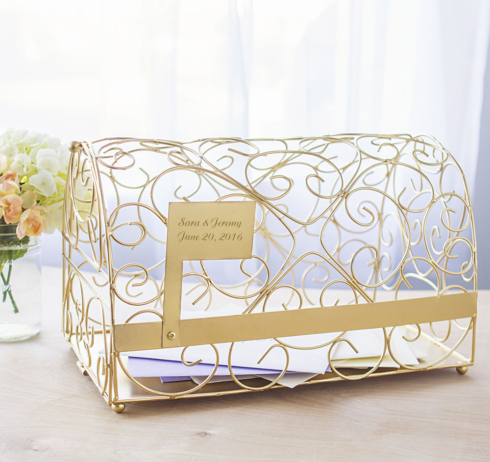 Gold Mailbox Wedding Card Holder | Wedding Card Box