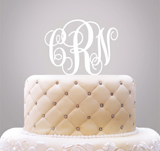 Monogram Wedding Cake Topper Acrylic
