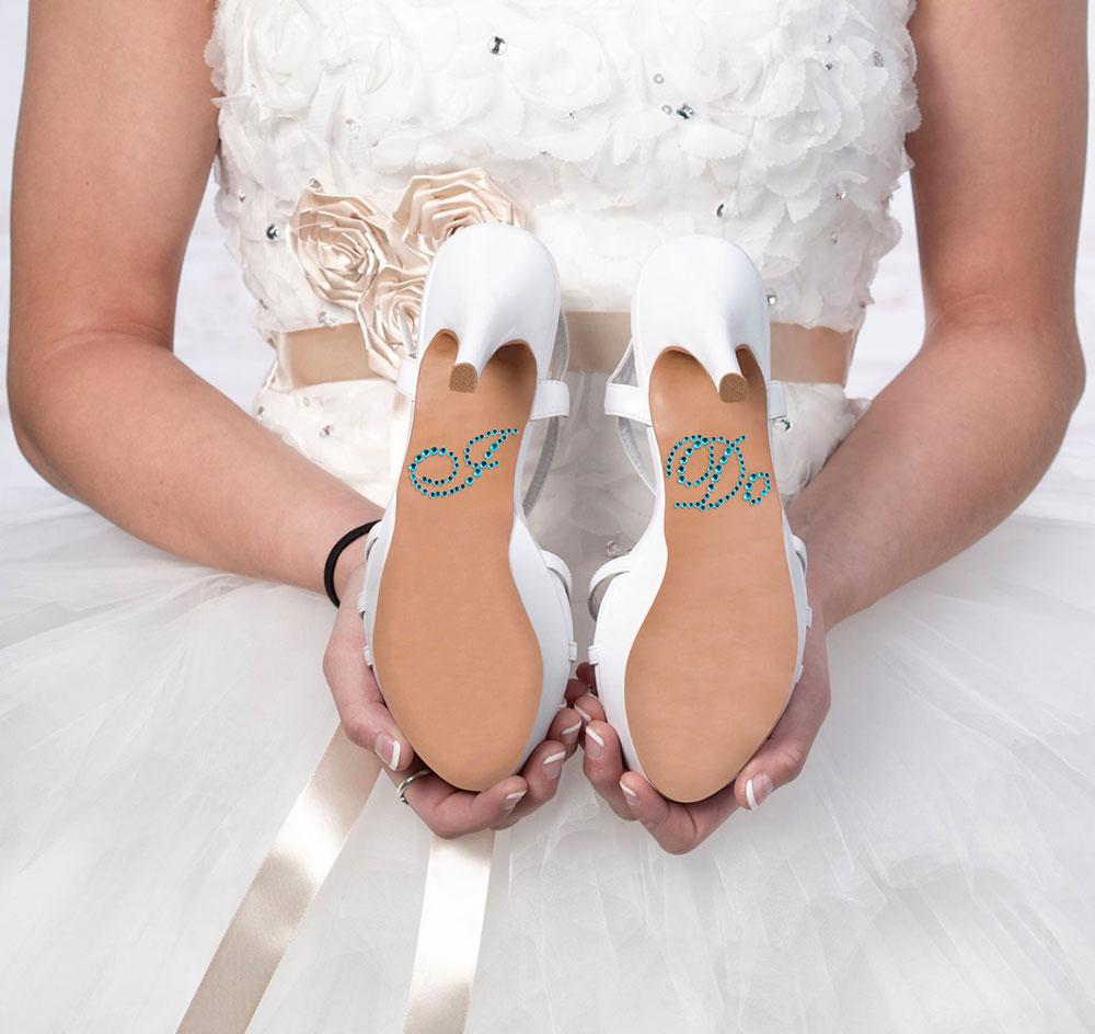 90dbc96432fc5d I Do Rhinestone Wedding Shoe Sticker
