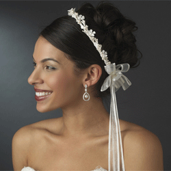 Pearl, Crystal & Flower Greek Stefana Wedding Crowns