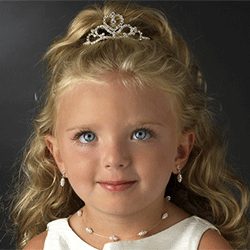 Rhinestone Heart Flower Girl Tiara